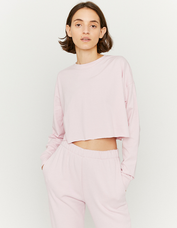 Top Rose Manches Longues