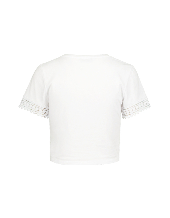 Top Blanc Ourlet Torsadé