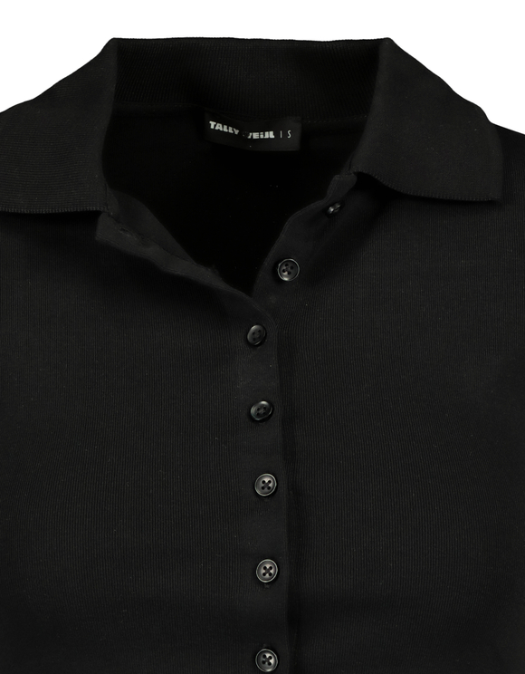 Black Cropped Polo
