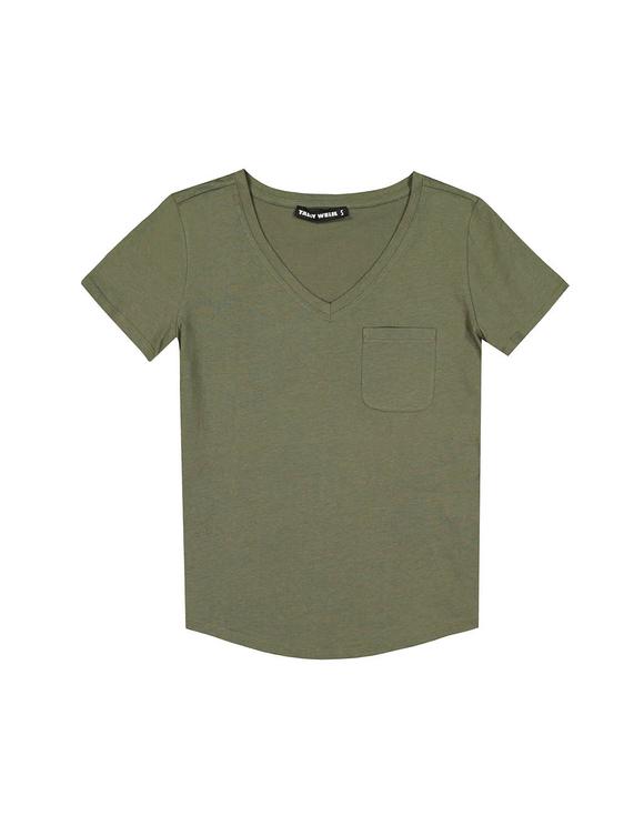 Khaki Top with Pocket