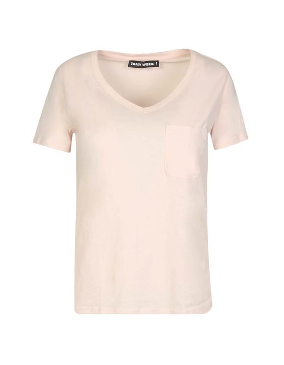 Pink Basic V Neck T-Shirt