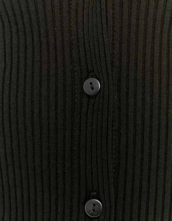 Czarny top z guzikami