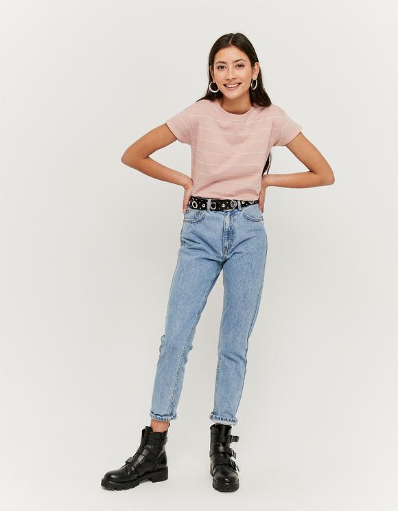 T-Shirt Rayé Rose
