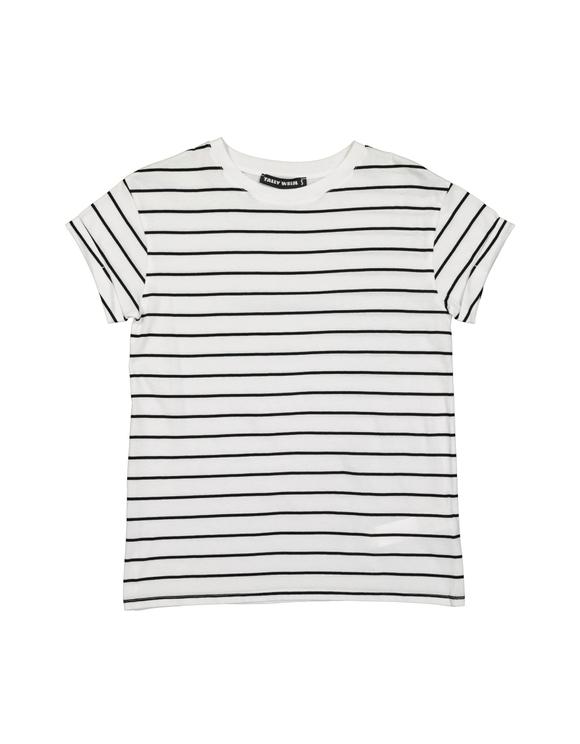 T-Shirt Blanc Rayé