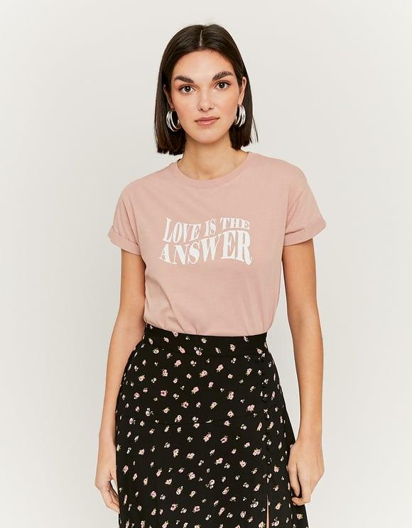 T-Shirt Rose Imprimé