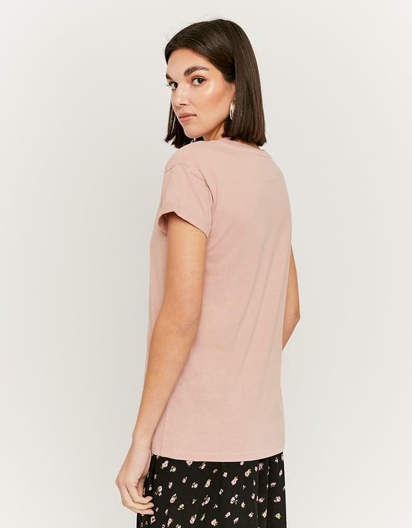 Pink Printed T-Shirt