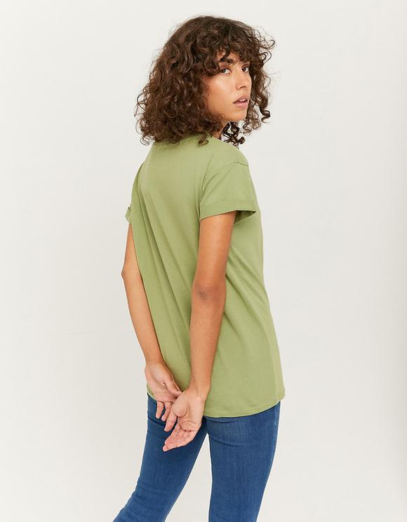 Khaki Printed T-Shirt