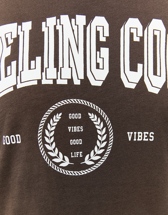 Bedrucktes Basic T-Shirt
