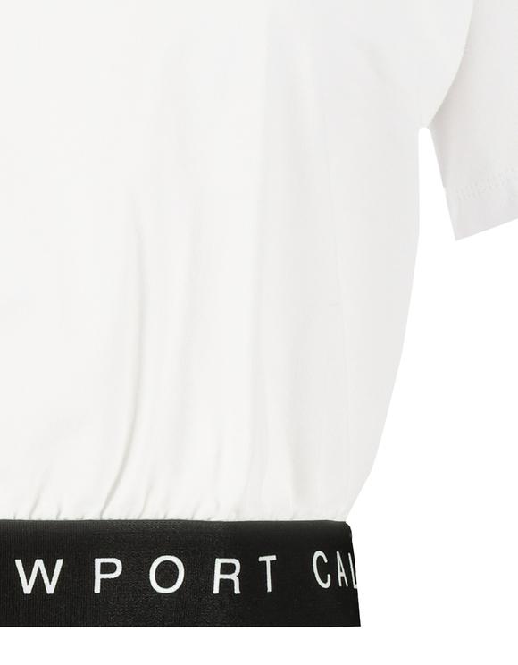 Crop Top Blanc Élastiqué