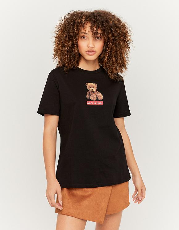 Schwarzes Teddy Bear T-Shirt