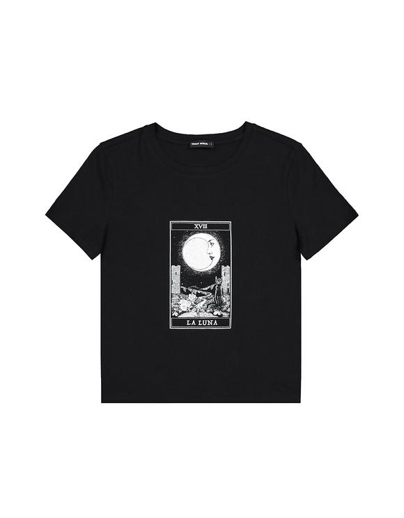 Schwarzes Astro T-Shirt