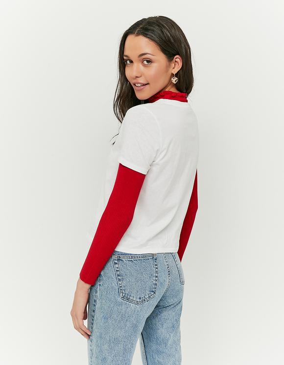T-Shirt Blanc avec Slogan
