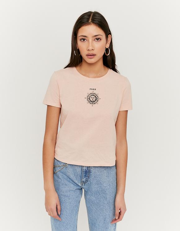 Maglietta Rosa con Stampa