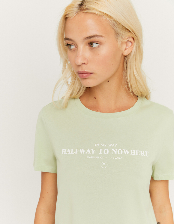Light Green Printed T-Shirt