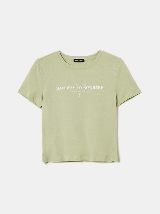 T-Shirt Vert Clair Imprimé