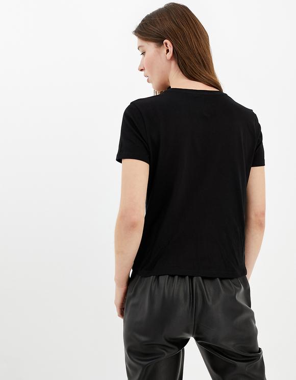 Black T-Shirt with Slogan