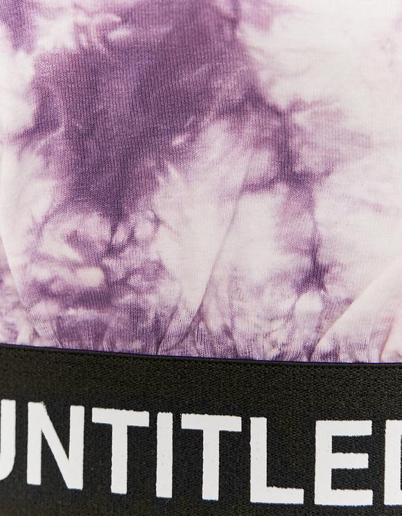 Purple Crop Top Tie Dye