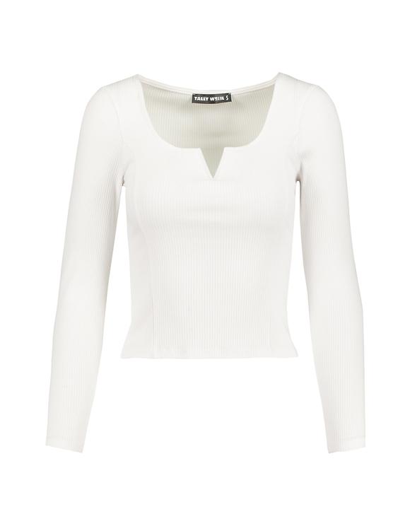 Top Blanc Côtelé