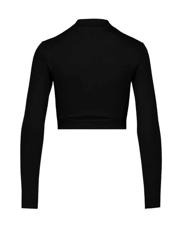 Black Crop Top with Cut Outs