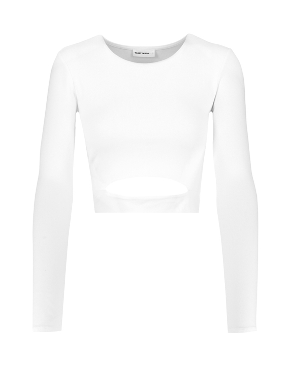 White Top with Front Cut Out