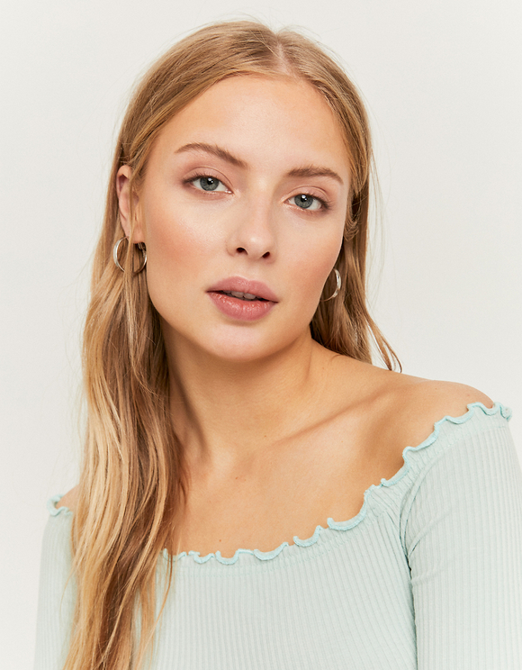 Green Off Shoulders Top