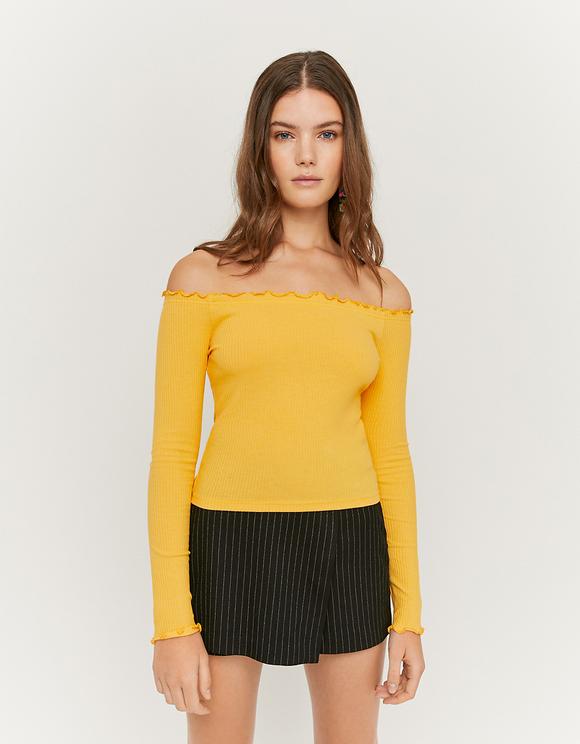 Yellow Off Shoulders Top