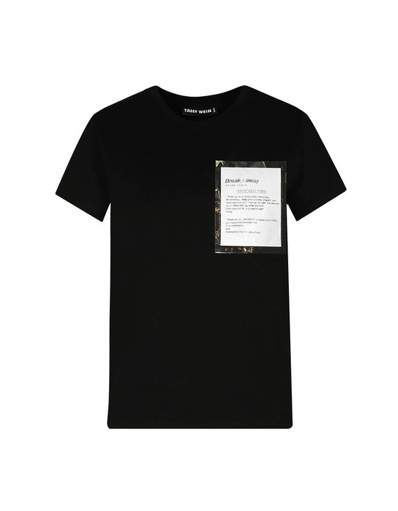 Black T-Shirt with Pocket
