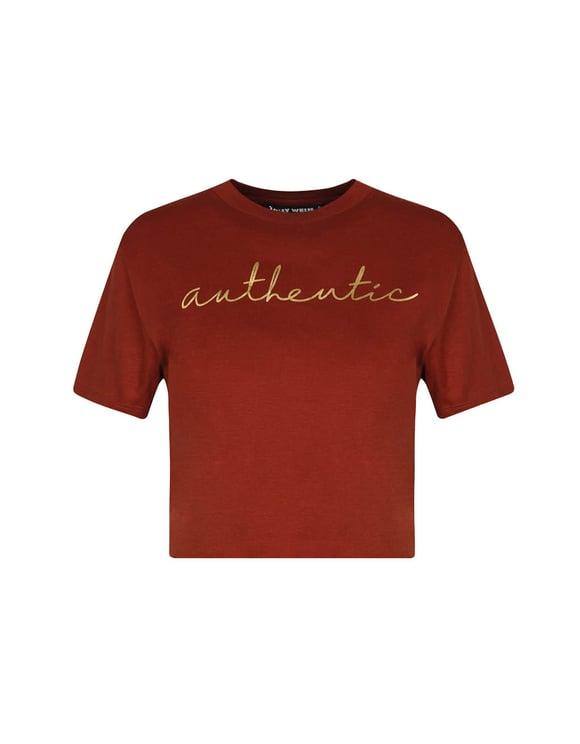Red Slogan T-Shirt