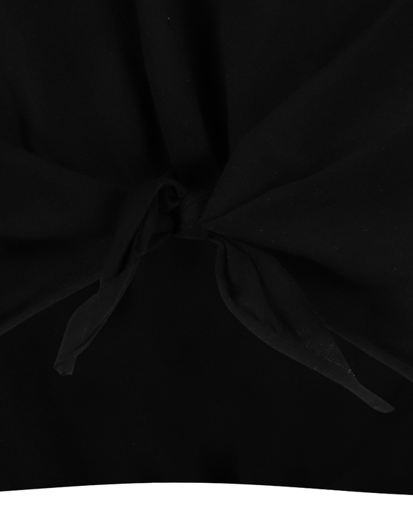 Crop Top Noir à Nouer