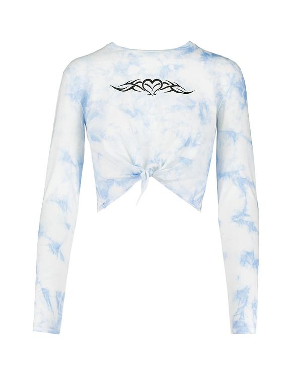 Crop Top Bleu Tie & Dye