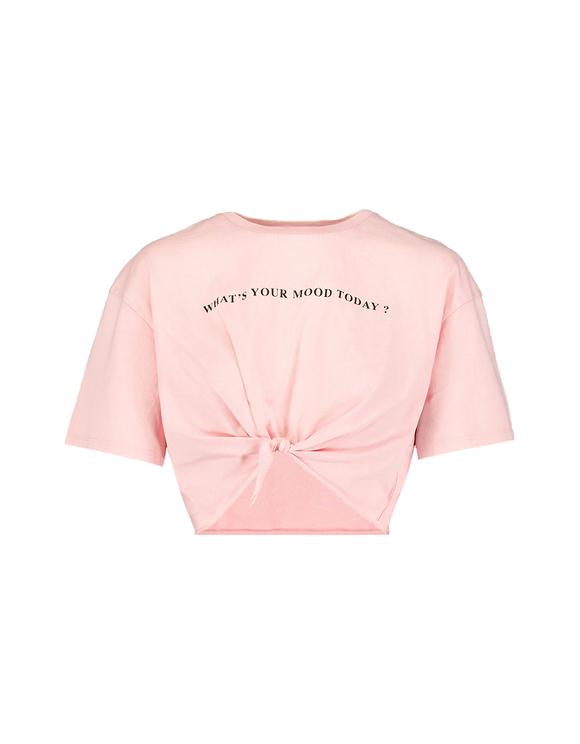 Różowy top Cropped z nadrukiem
