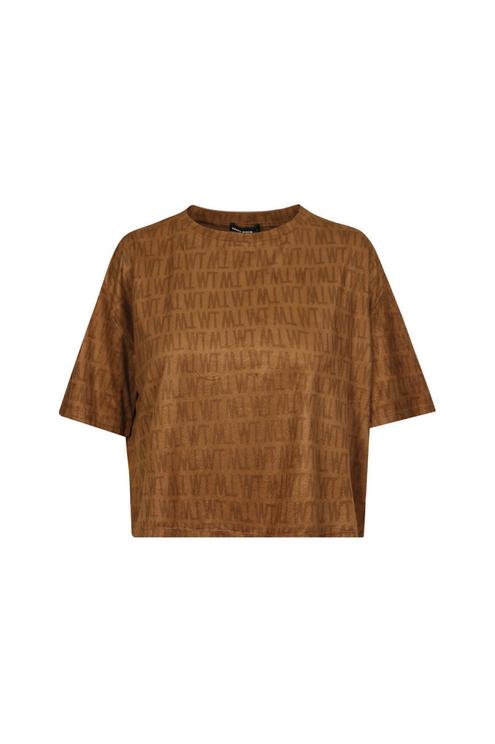 T-Shirt Camel en Suédine