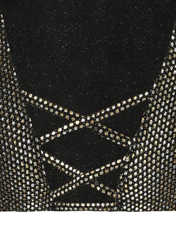Black Glitter Crop Top