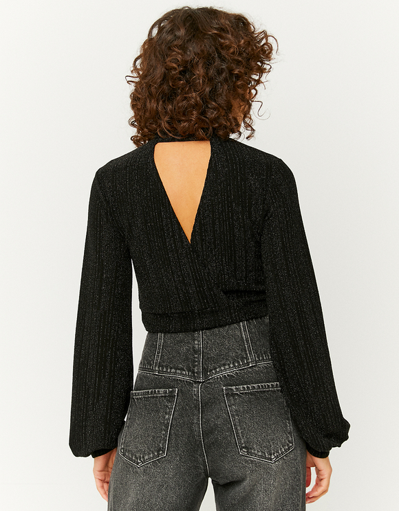 Wrap Back Lurex Top