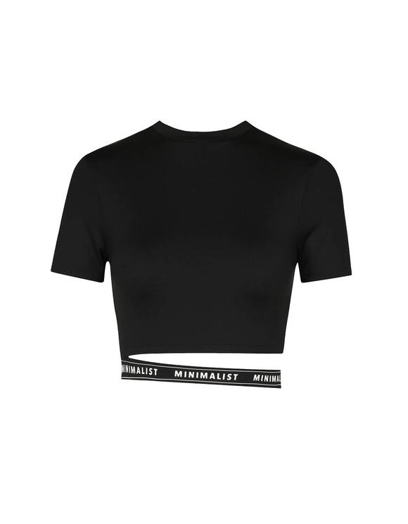 Crop Top Noir avec Slogan
