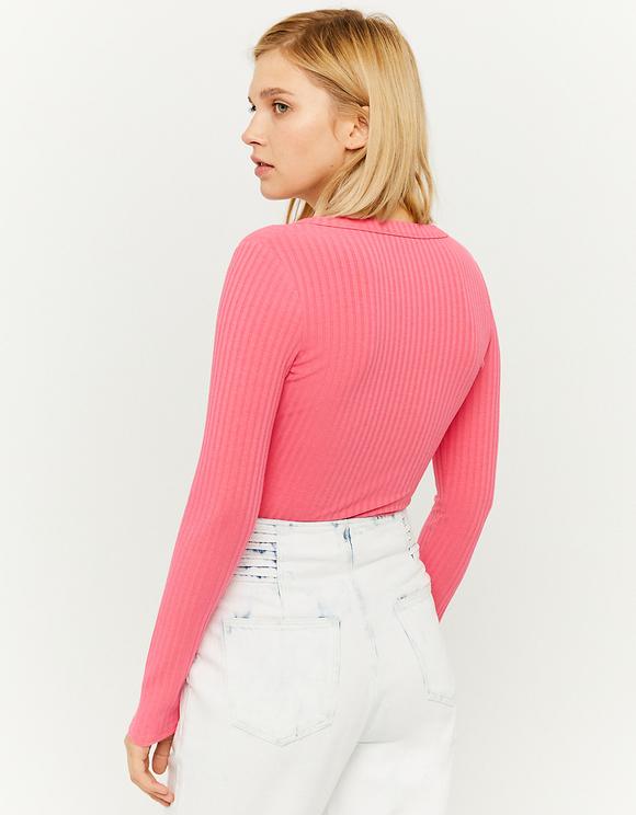Pinkes Top mit Reißverschluss