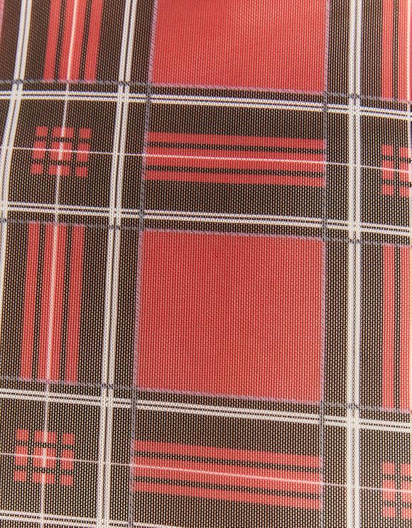 Top Rouge en Mesh Imprimé