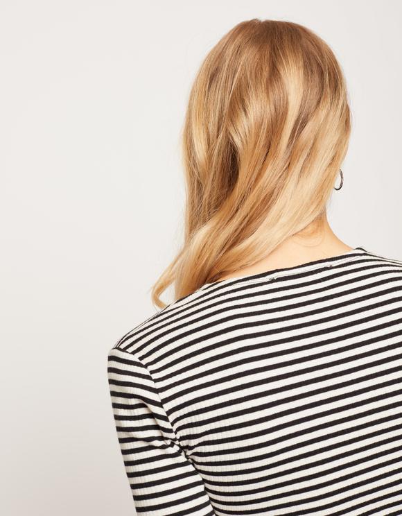 Black Striped Crop Top