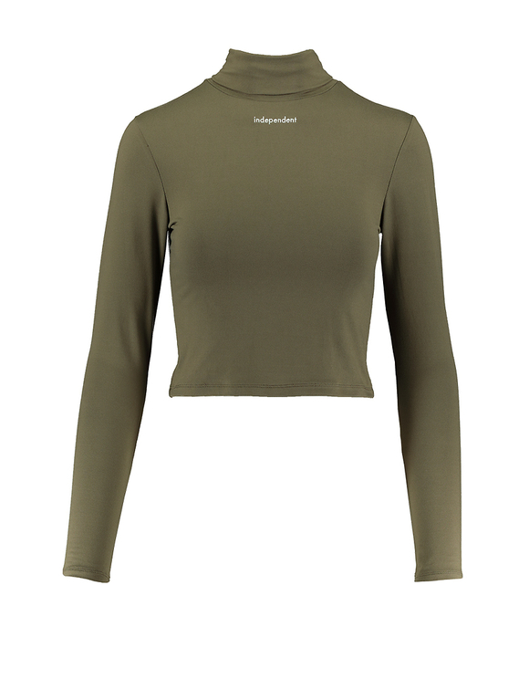 Khaki Top mit Slogan