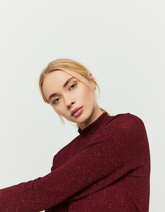 Burgundy Glittered Top