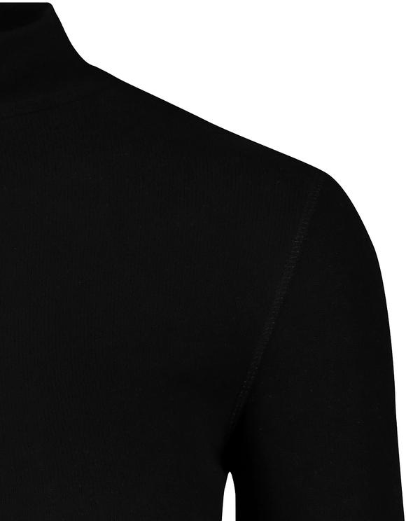 Black Brushed Ribbed Top