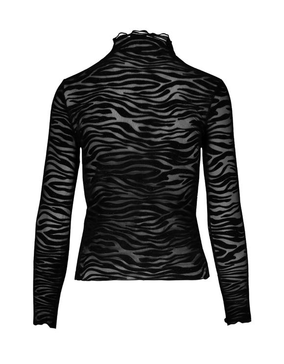 Schwarzes Top mit Zebra-Aufdruck