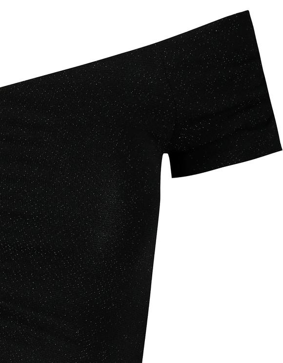 Crop Top Noir Épaules Nues