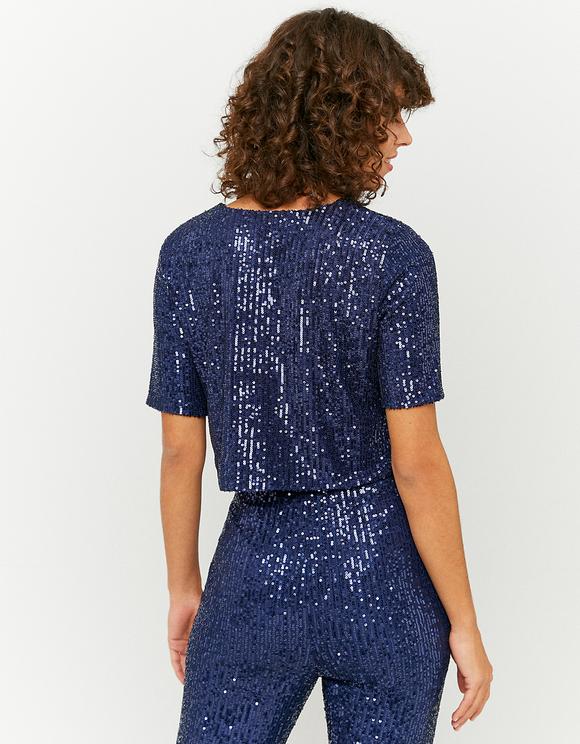 Blue Sequins Top