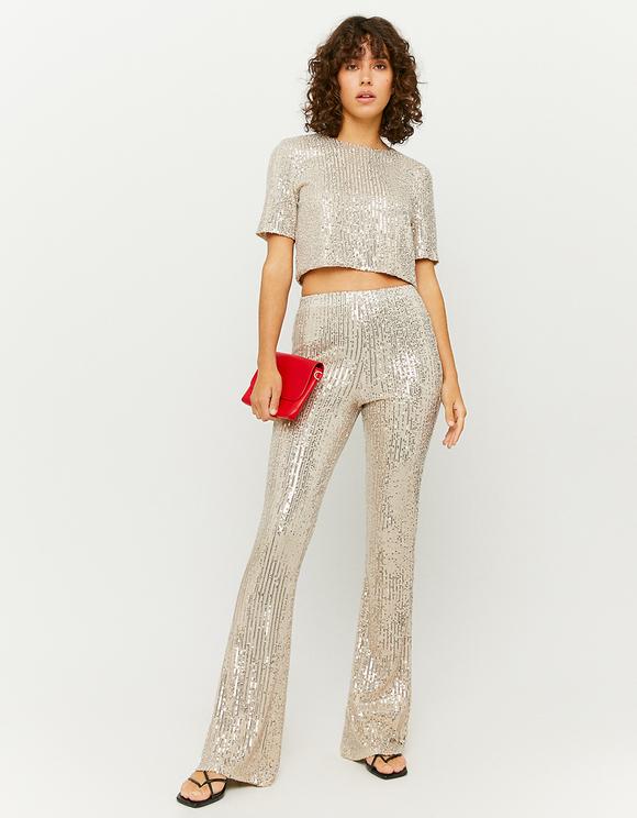 Golden Sequins Top