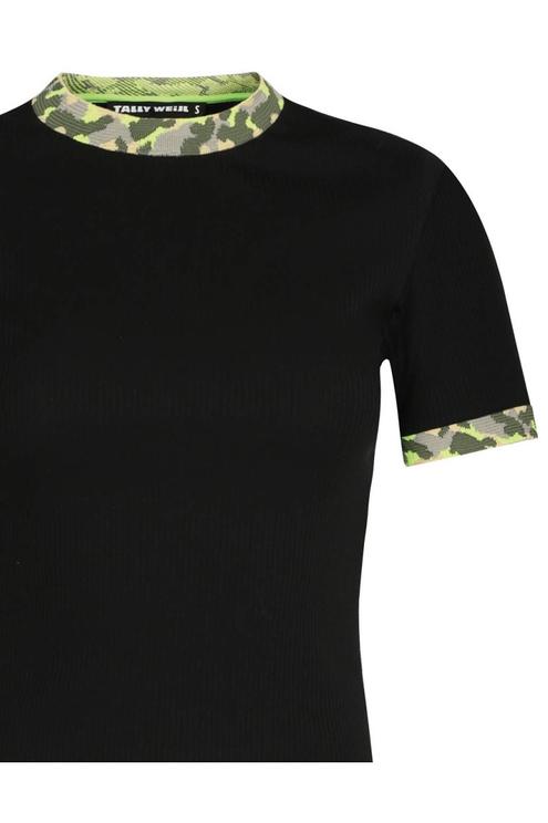Black Camo Top