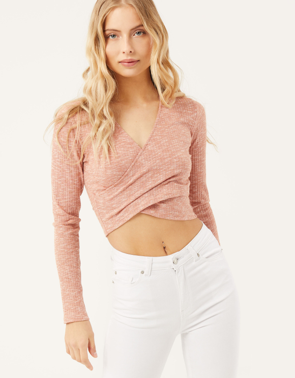 Crop Top Cache-Cœur