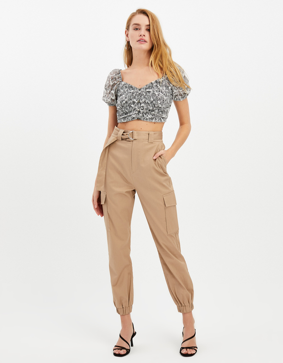 Crop Top Serpent Gris