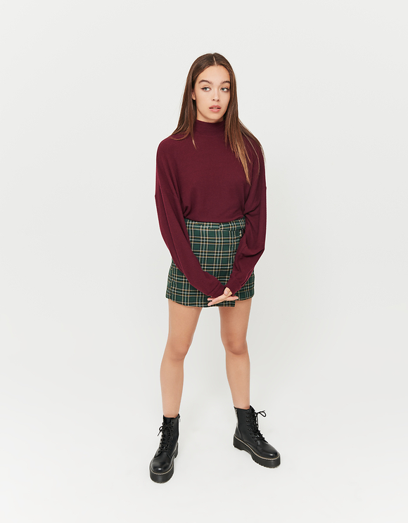 Burgundy Oversized Top