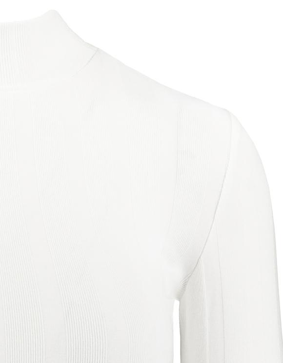 Top Bianco con Collo Alto